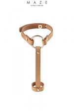 Bracelet bague marron - Maze : Un bracelet / harnais pour les mains, 100% Vegan, pour donner une touche incroyable à vos tenues.