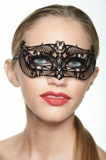 Masque vénitien Princess 7 : Masque vénitien métal décoré de strass, un bandeau sophistiqué et mystérieux sur votre regard.