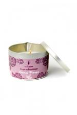 Bougie de massage Ananas-Mangue : Bougie de massage parfum Ananas-Mangue fabriquée en France pour des moments sensuels.