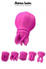 Caress - stimulateur clitoris : Le stimulateur clitoridien révolutionnaire, vibrant et rotatif, proposé avec 5 têtes interchangeables.