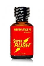 Poppers Super Rush 24ml : Le poppers Super Rush est un arôme puissant et fort à base de nitrite de Pentyle, en grand flacon de 24 ml.