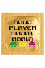 Préservatif humour - Same Player Shoot Again